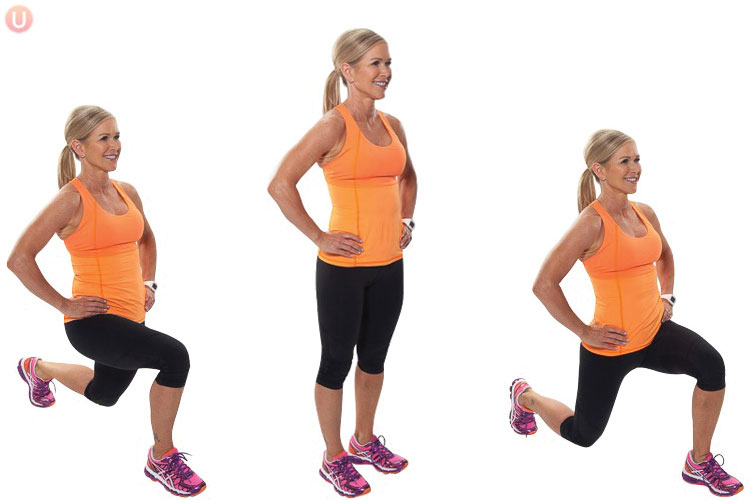 How to Do Alternating Forward Lunges - Get Healthy U