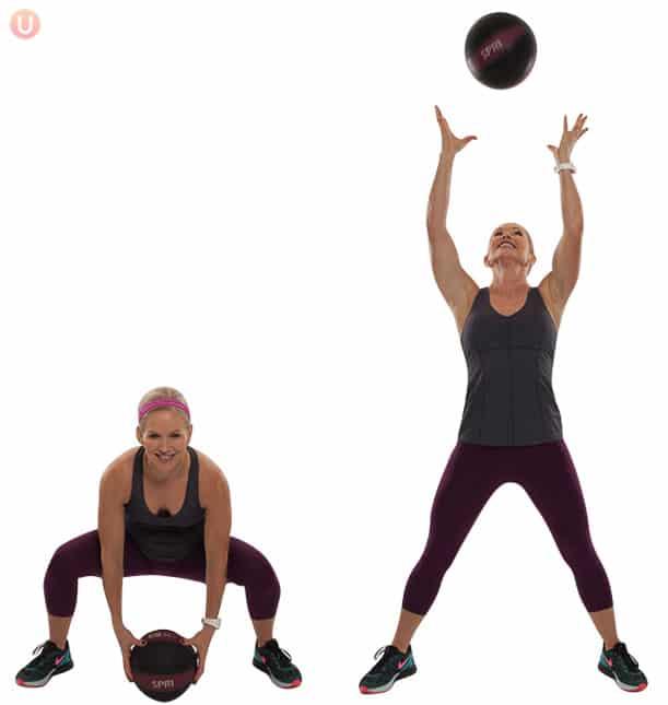 How To Do Medicine Ball Squat Toss