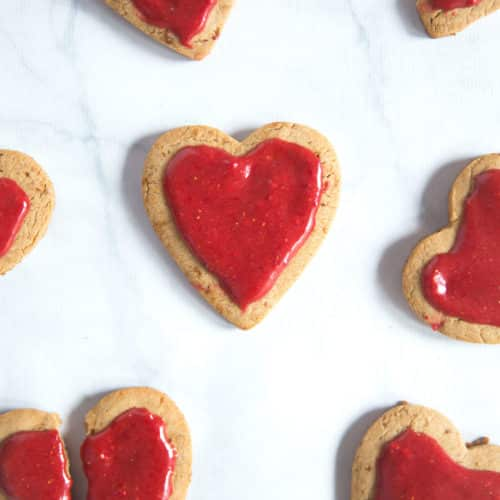 Check out our recipe for Whole Wheat Coconut Oil Sugar Cookies with Natural Strawberry Icing! They're the perfect dessert on Valentine's day dessert, and a healthy dessert option that everybody will love!